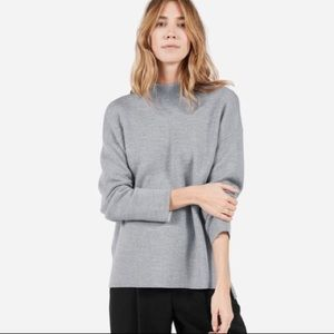 Everlane double knit grey mockneck